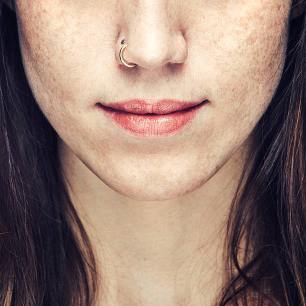 nose ring - nose ring stock pictures, royalty-free photos & images