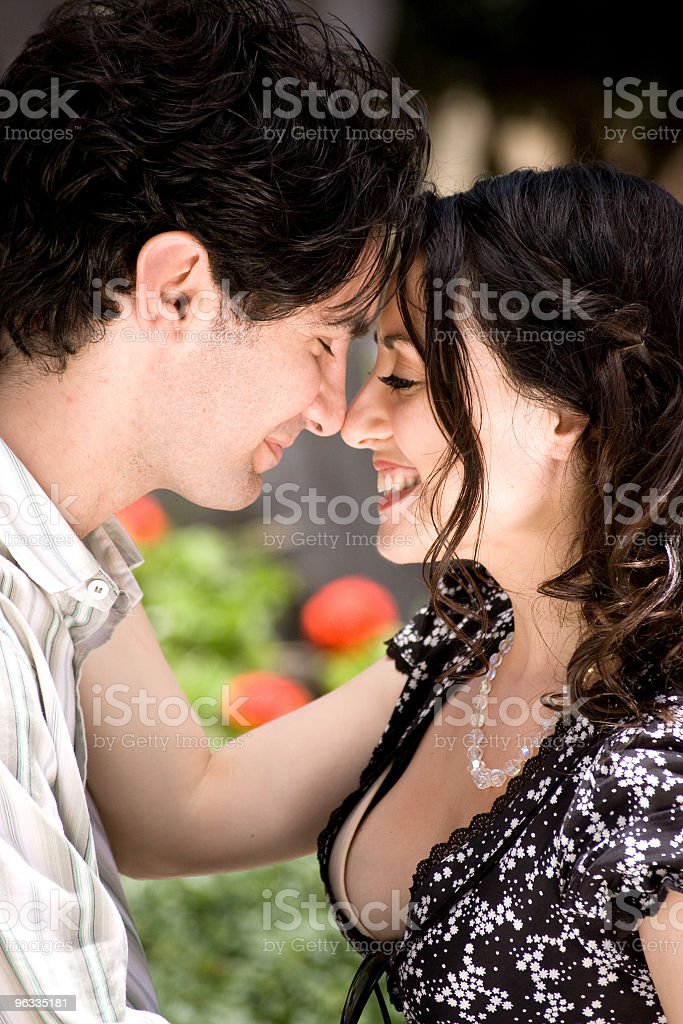 Nose rubbing royalty-free stock photo