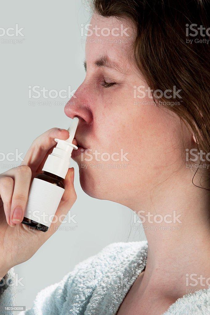Nose spray royalty-free stock photo