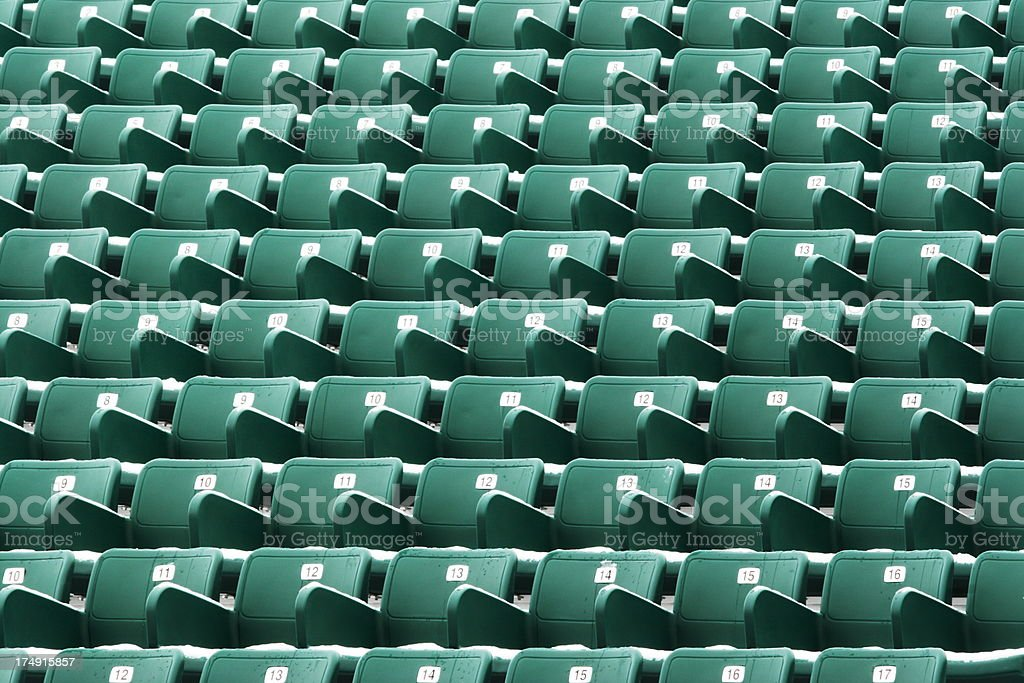 Nosebleed Seating Stadium Bleachers royalty-free stock photo