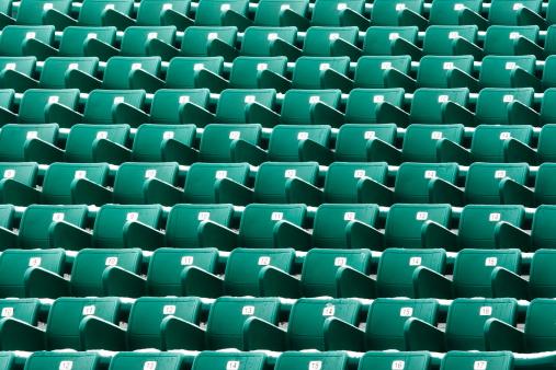 171581046 istock photo Nosebleed Seating Stadium Bleachers 174915857