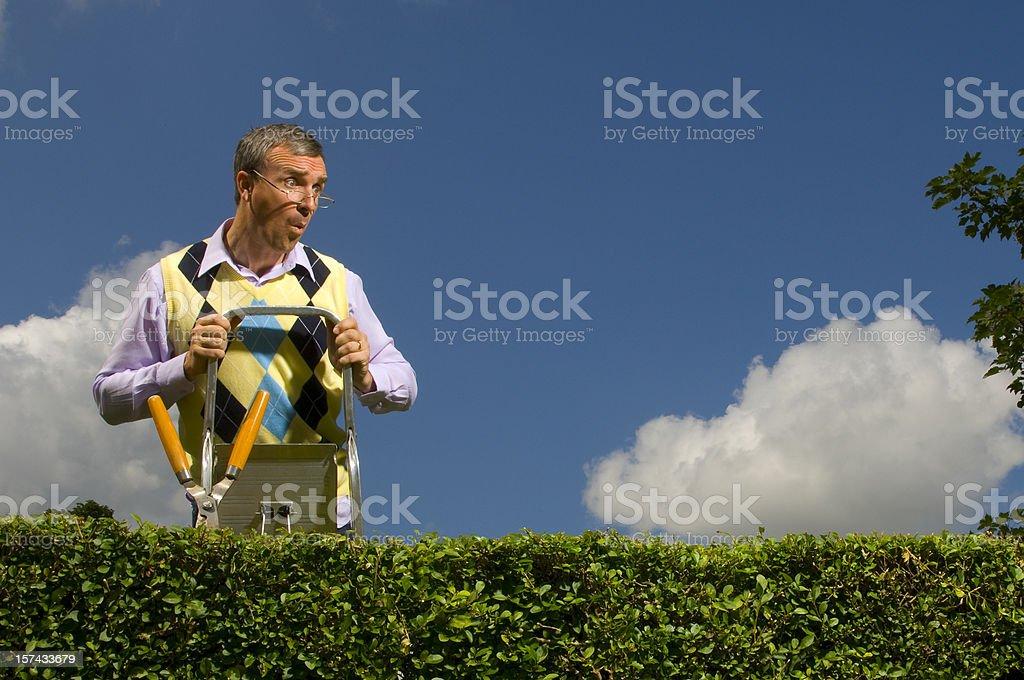 nosey neighbour stock photo