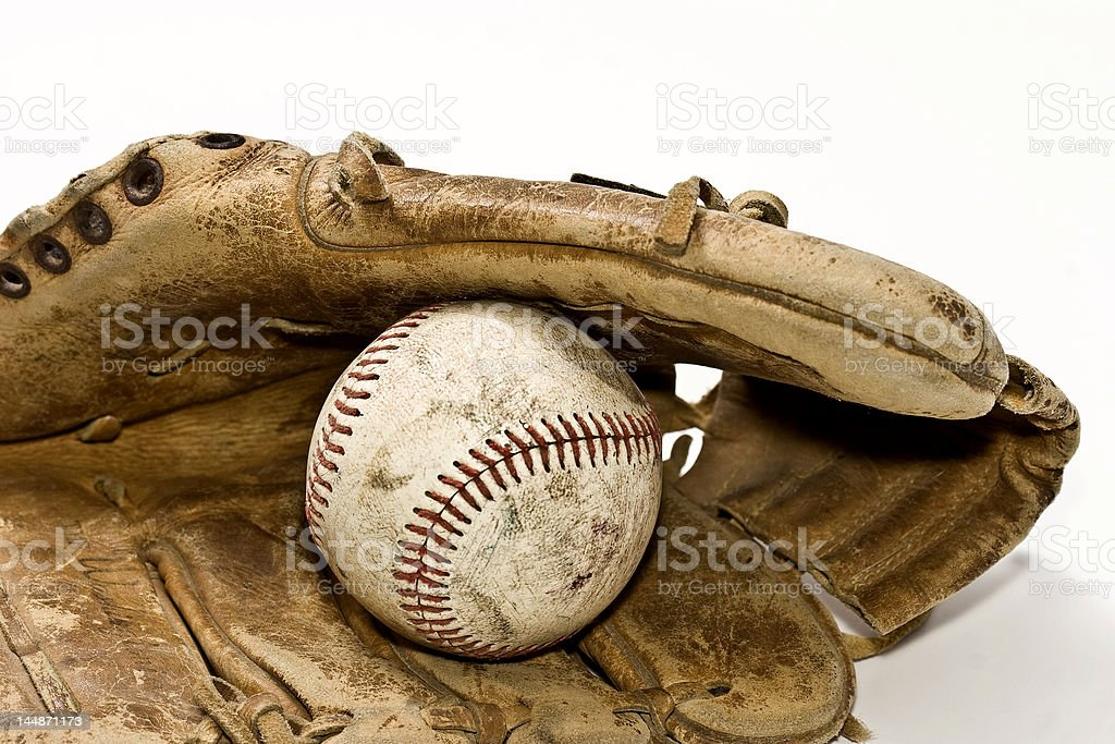 Nostalgic Baseball and Glove royalty-free stock photo