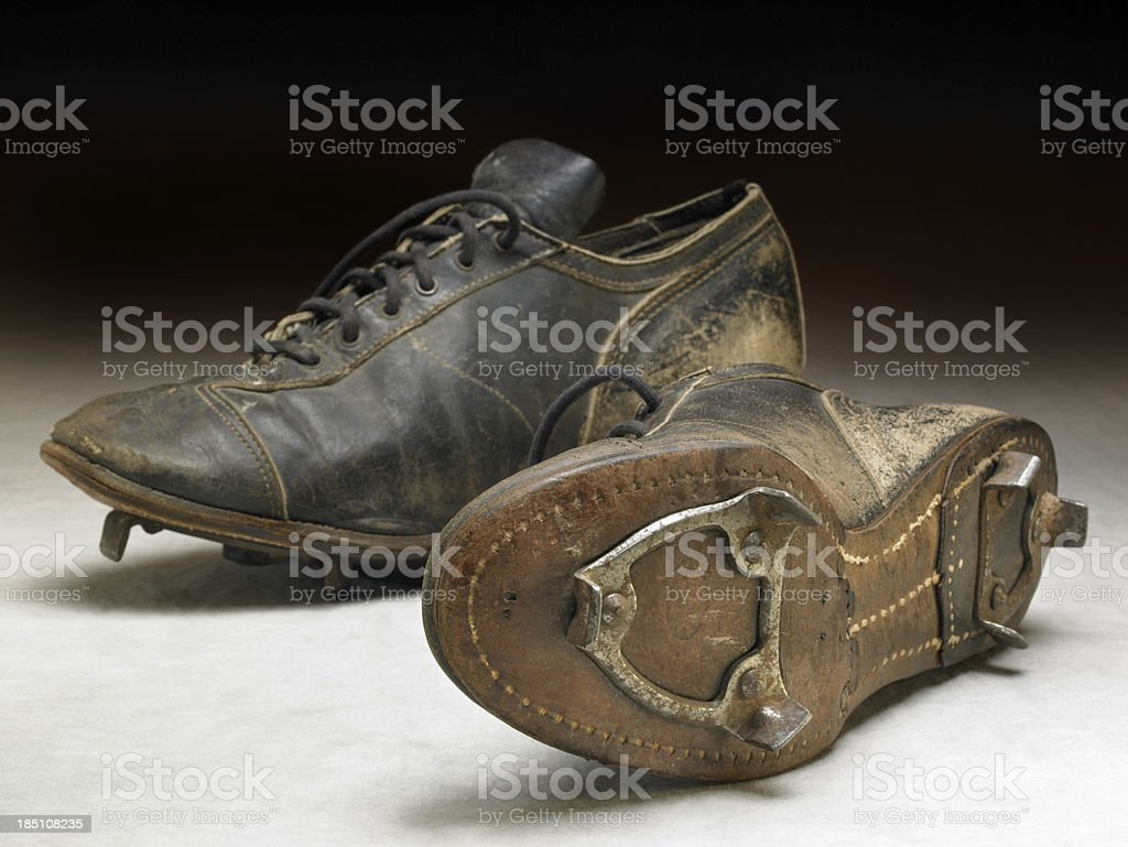 Nostalgic baseball cleats stock photo