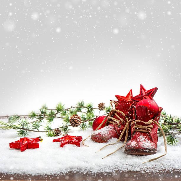 Nostalgic christmas decoration with antique baby shoe picture id476918137?b=1&k=6&m=476918137&s=612x612&w=0&h=sph4y991kkkxldqs58vv9kkyeeombbokx7gr4m5jflu=
