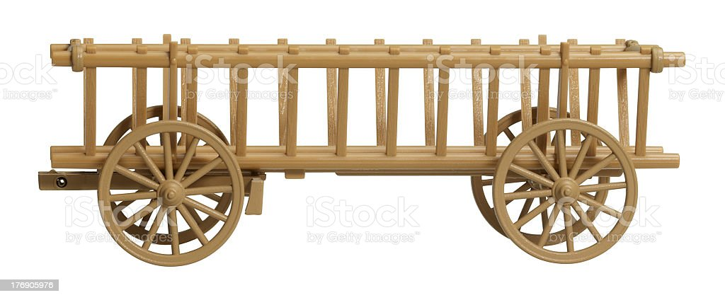 nostalgic hay wagon model stock photo