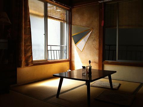 Nostalgic Japanese old folk house in one summer day.