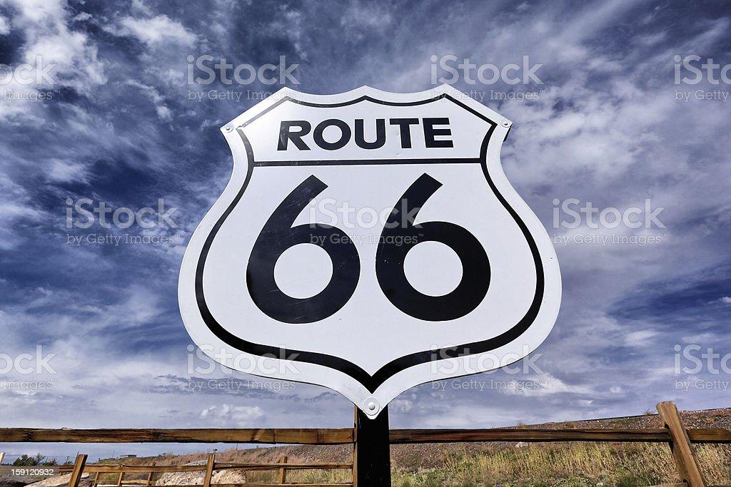 nostalgic route 66 sign stock photo