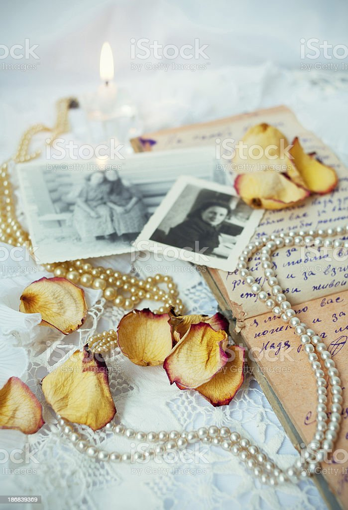 Nostalgic still life royalty-free stock photo