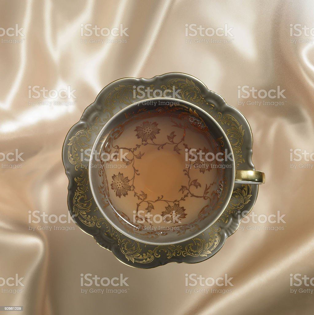 nostalgic tea cup and saucer royalty-free stock photo