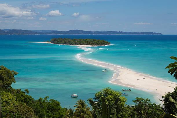 Nosy Iranja tropical beach in Madagascar stock photo