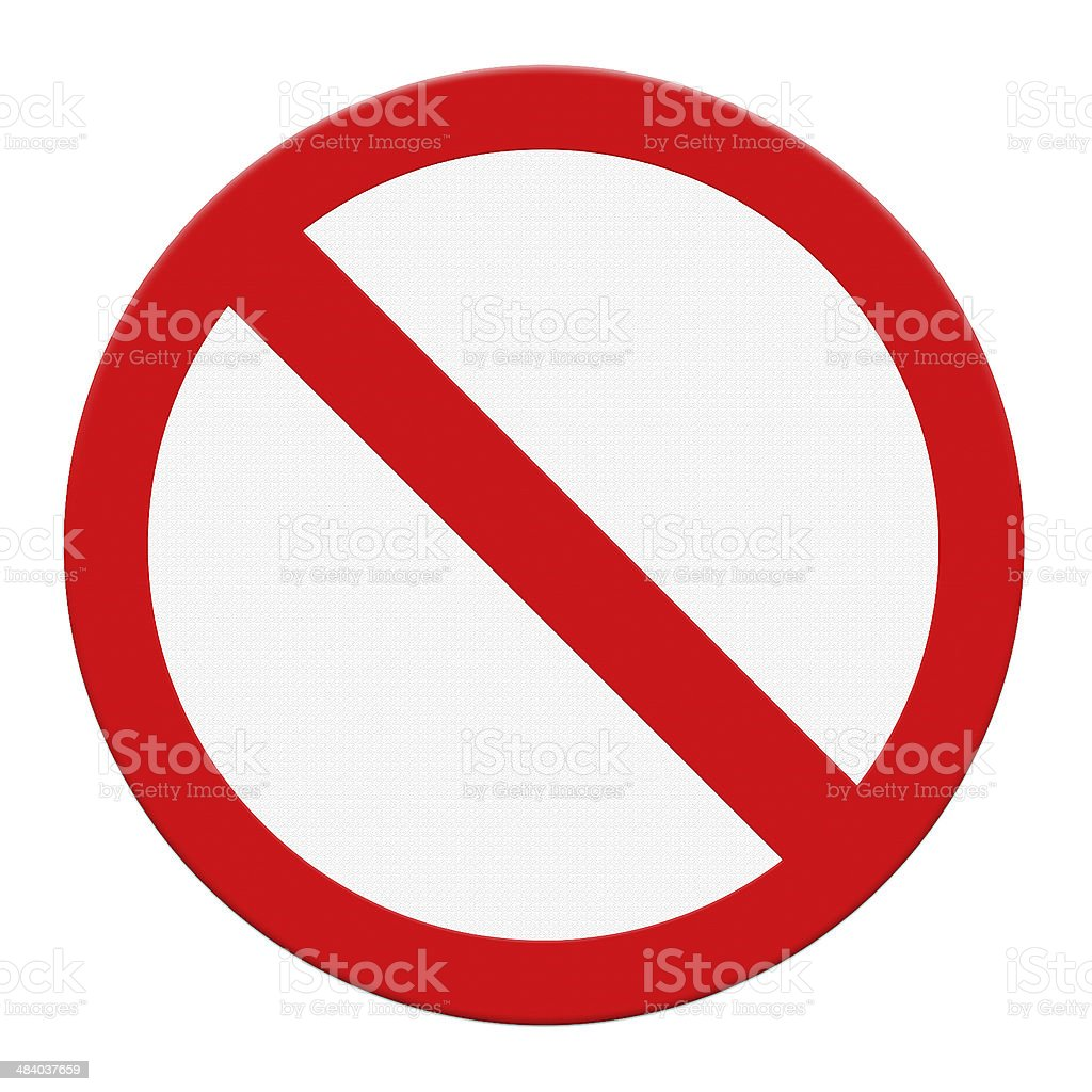 Not Allowed Sign stock photo