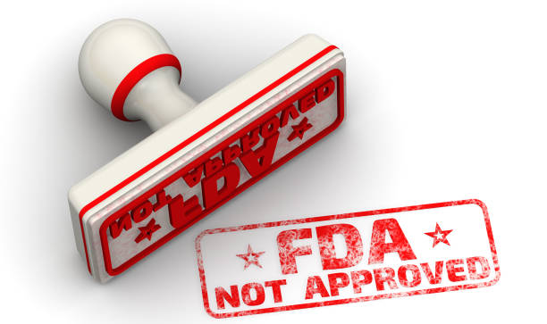fda not approved. seal and imprint - fda stock photos and pictures