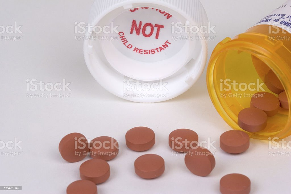 Not Child Resistant stock photo