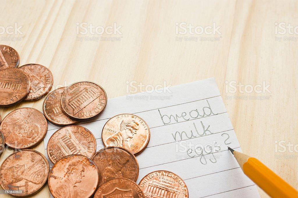 Not enough money royalty-free stock photo