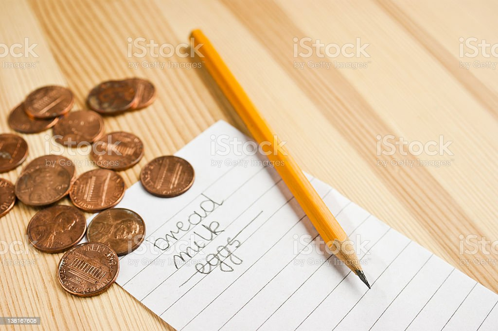 Not enough money royalty-free stock photo