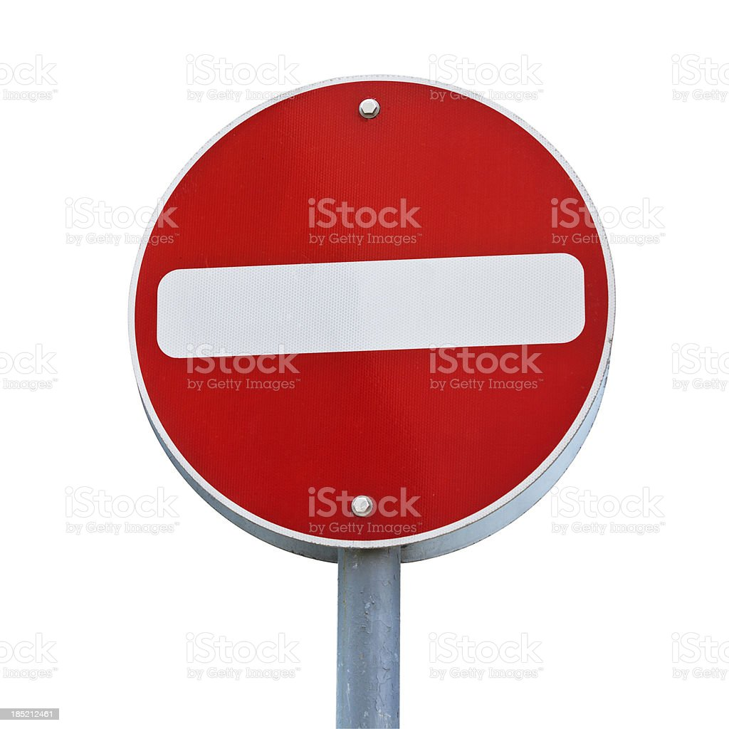 Not Enter Sign stock photo