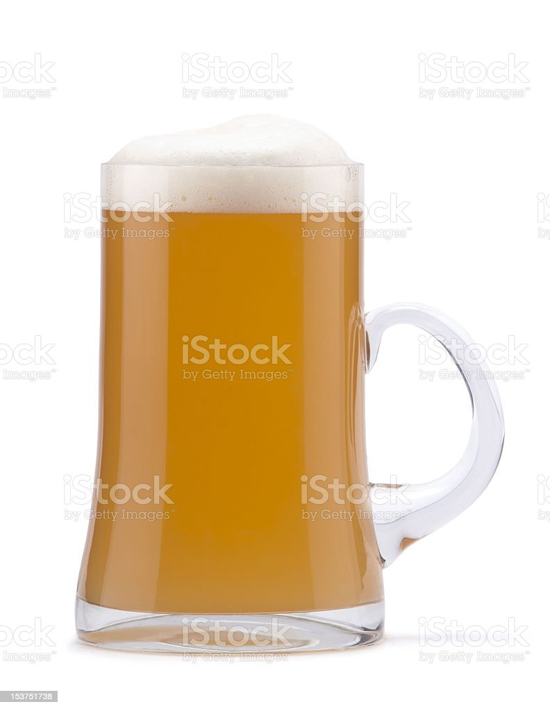 Not filtered beer stock photo