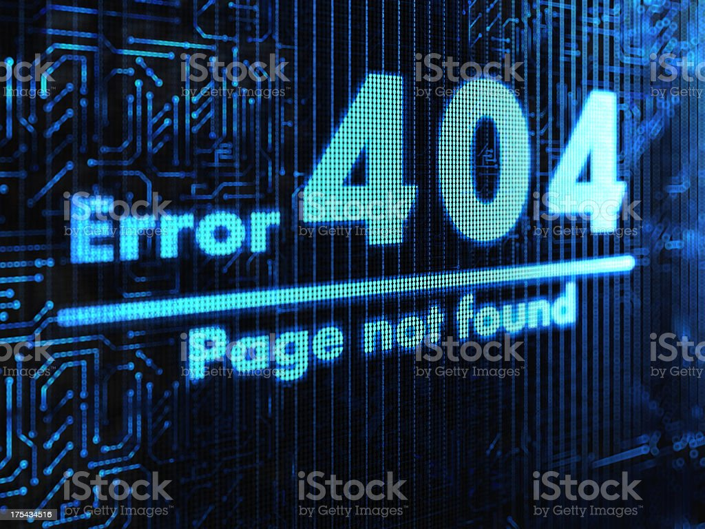 Not Found stock photo