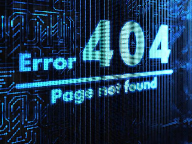 nicht gefunden - fehlermeldung stock-fotos und bilder