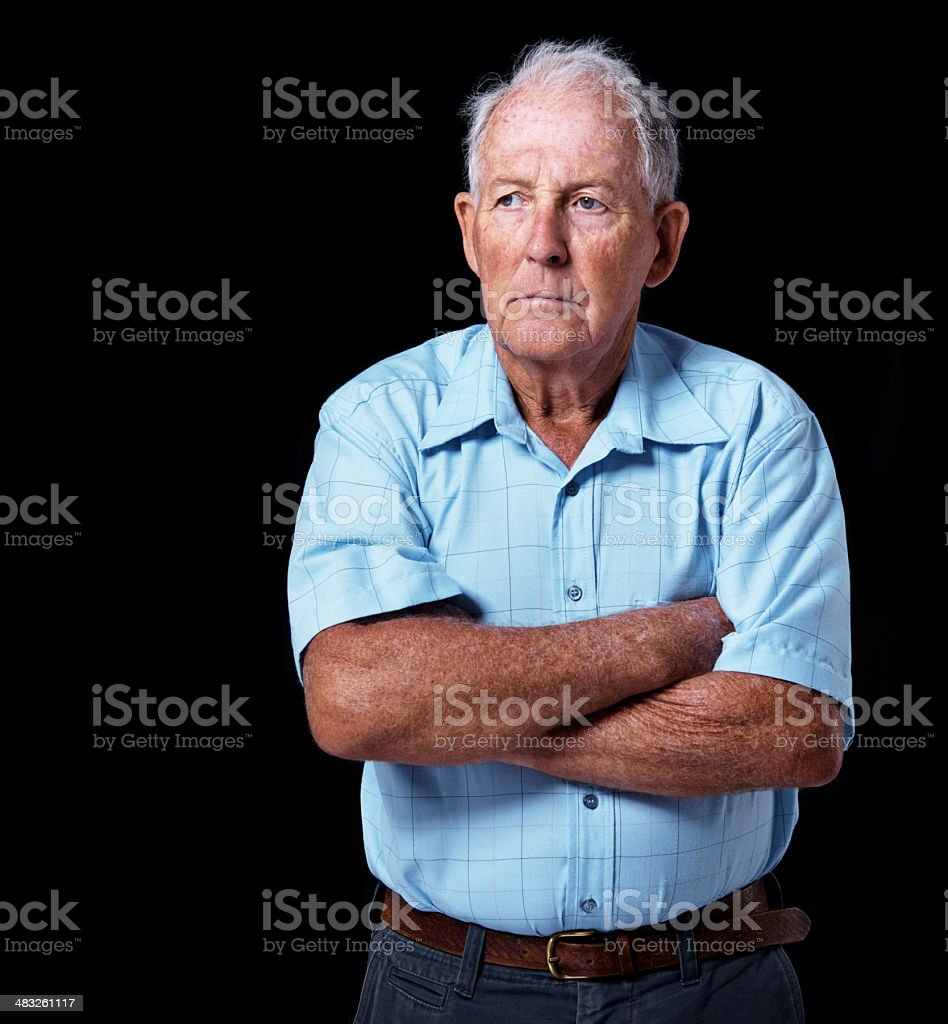 Not going quietly stock photo