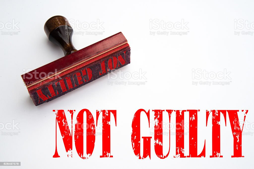 Not Guilty Rubber Stamp Stock Fotografie Und Mehr Bilder Von Digital
