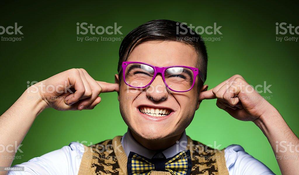 not hearing you stock photo