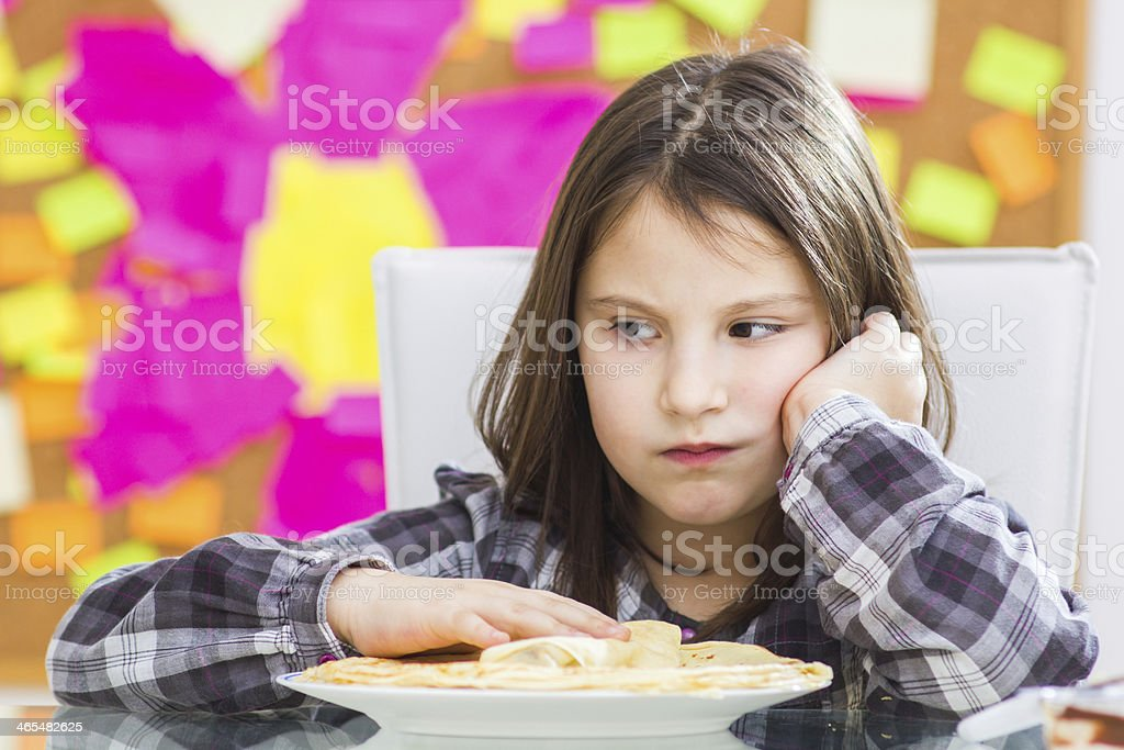 Not hungry stock photo