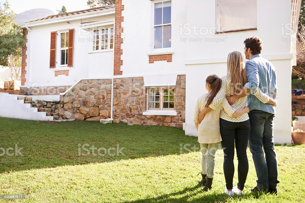 Not just a house, but a home stock photo