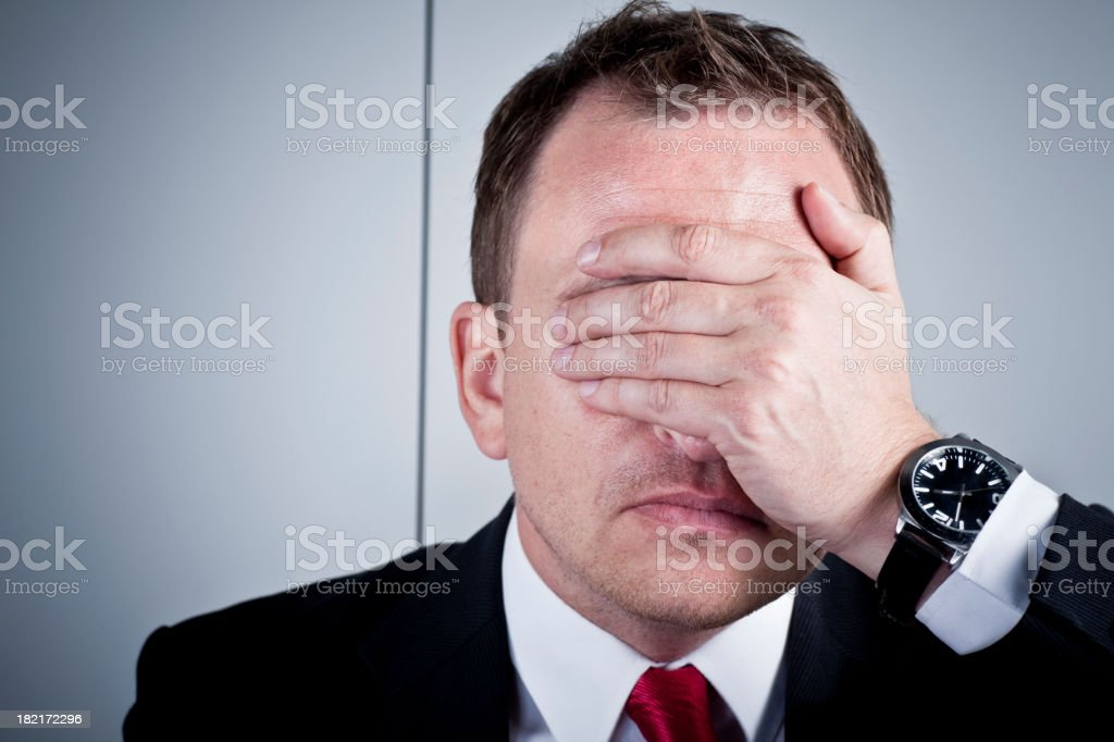 Not looking royalty-free stock photo