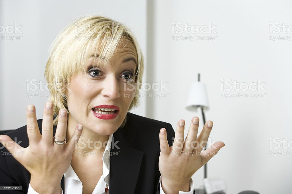 Not my foult! royalty-free stock photo