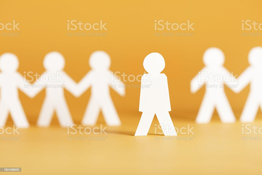 Not participating - paper concept royalty-free stock photo