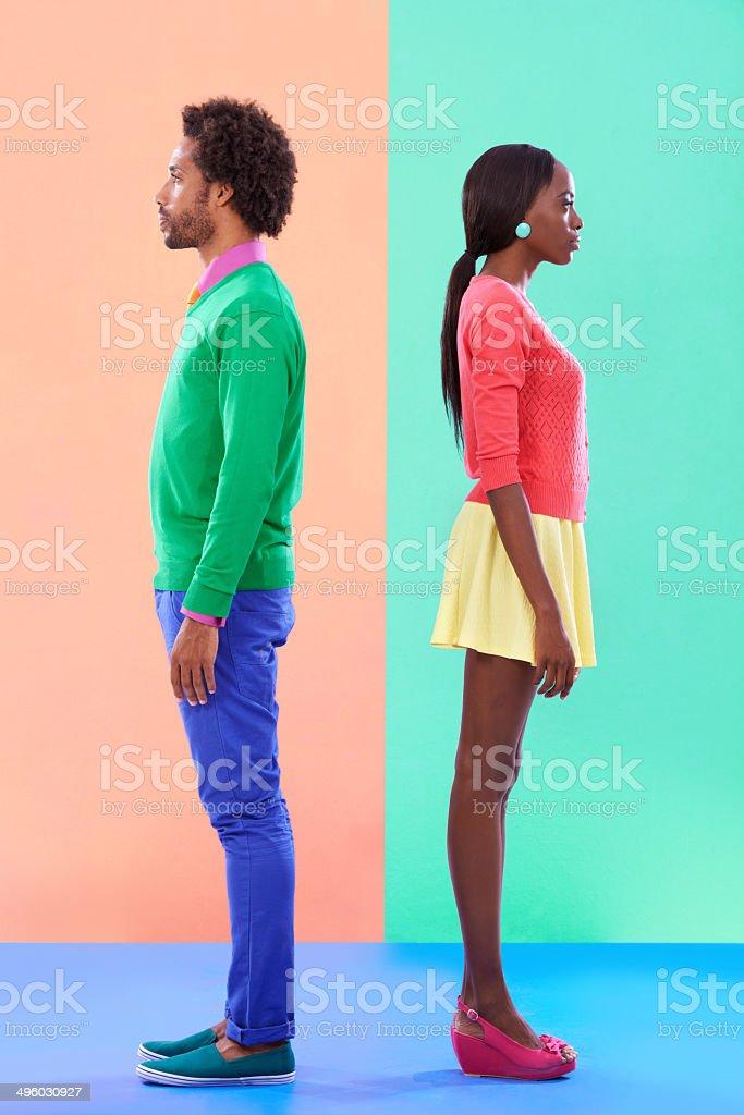 Not quite complete opposites stock photo