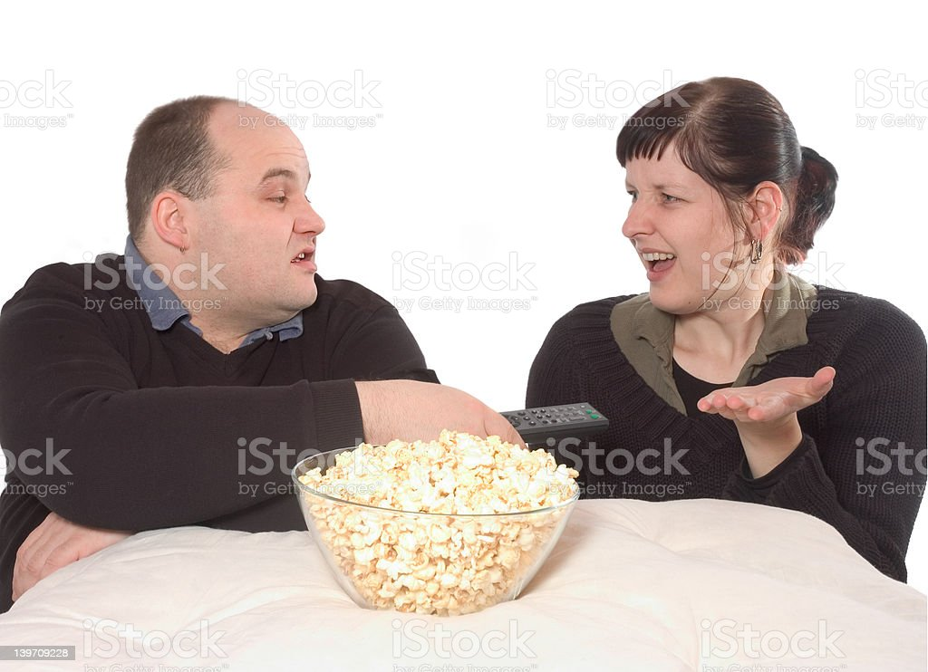 not the perfect movie night stock photo
