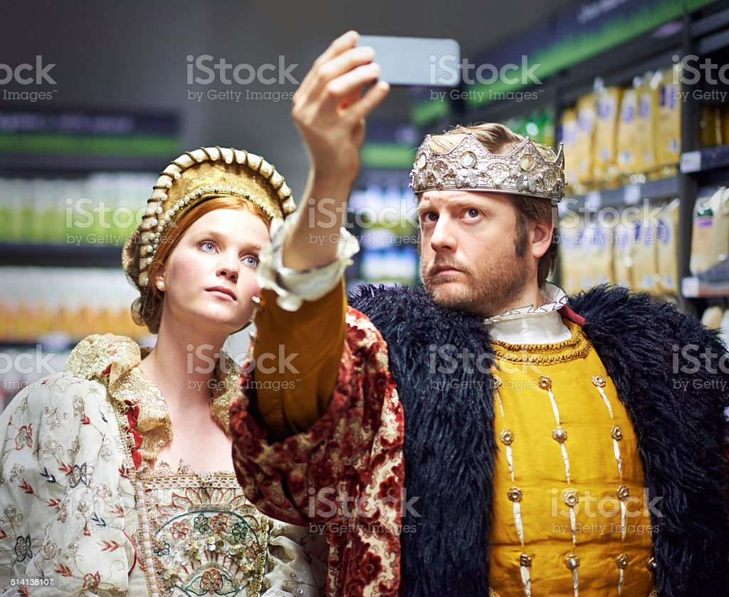 #Not too royal to shop! stock photo