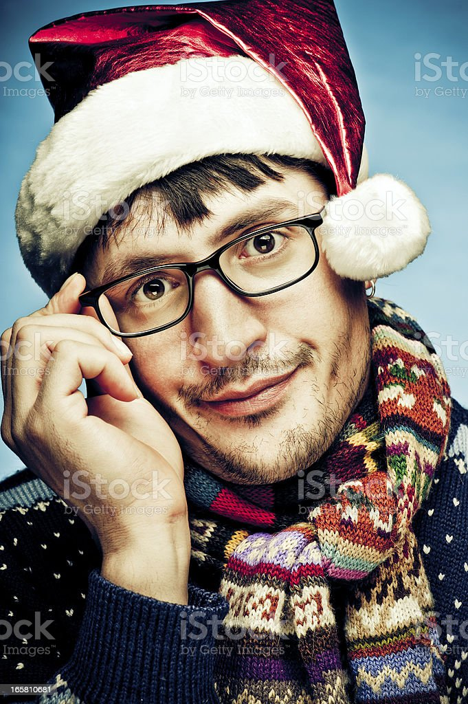 Not very happy about Xmas royalty-free stock photo