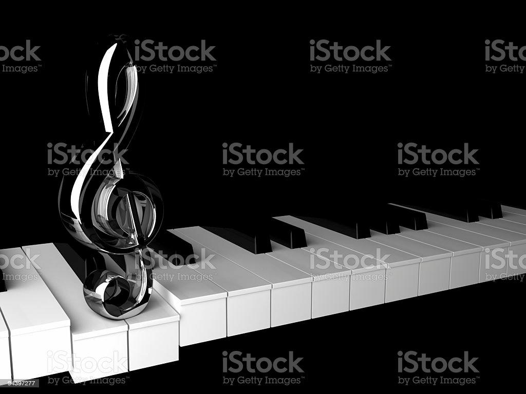 Nota and keys. stock photo