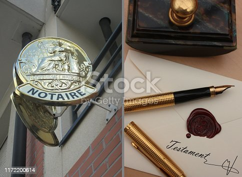 845085240istockphoto Notarial Office  Testament signed  Notarial act 1172200614