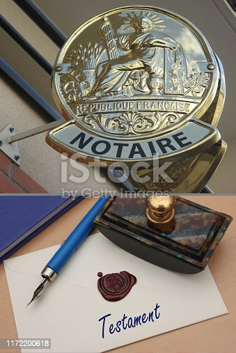 845085240istockphoto Notarial Office  Testament signed  Notarial act 1172200618