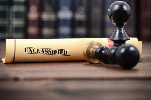 944422446 istock photo Notarized document concept, unclassified documents 1190445324