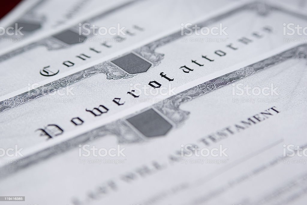 Notary documents stock photo