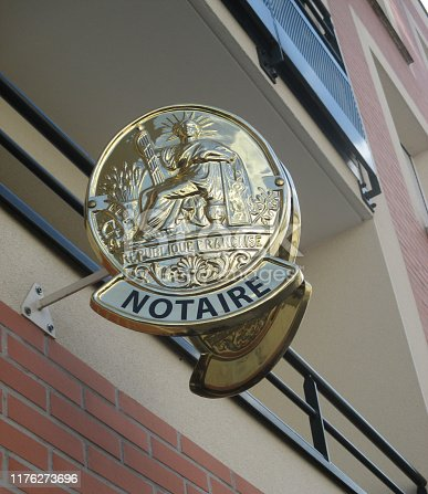 845085240istockphoto Notary Office  Sign 1176273696