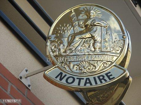 845085240istockphoto Notary Office  Sign 1176273711