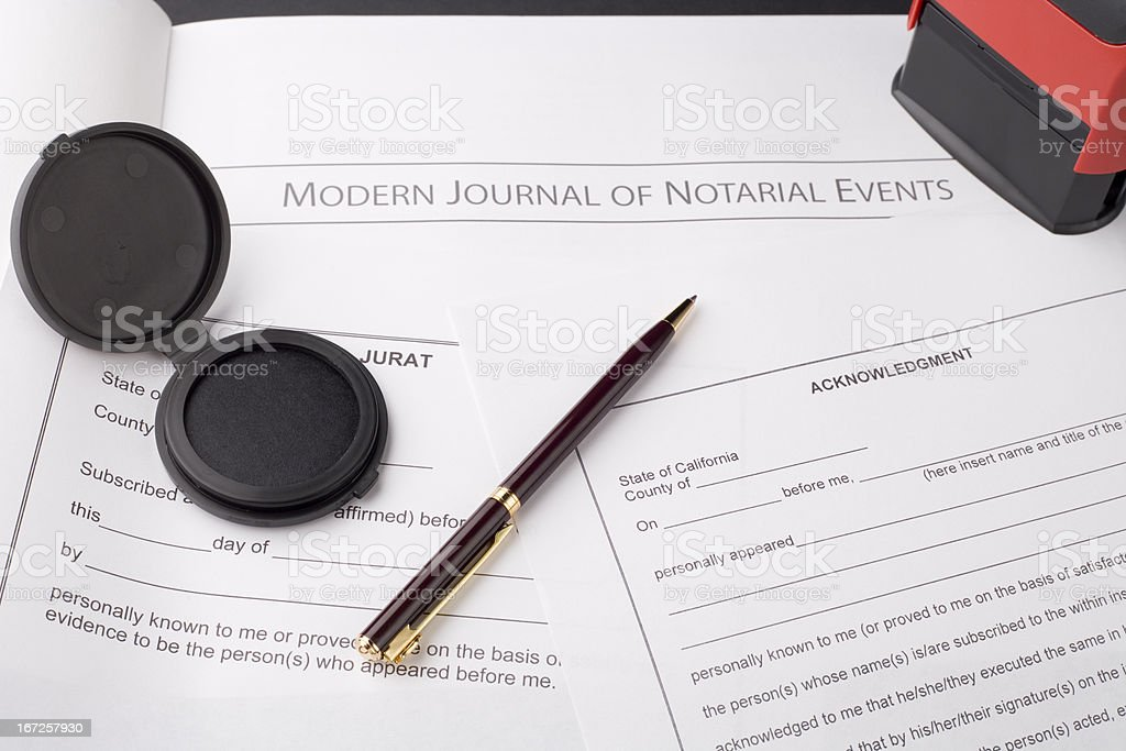 Notary Public Materials stock photo