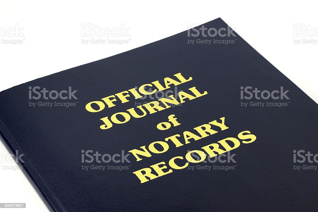 Notary Records stock photo