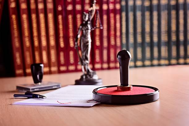 notary's public working tools. - notaris stockfoto's en -beelden