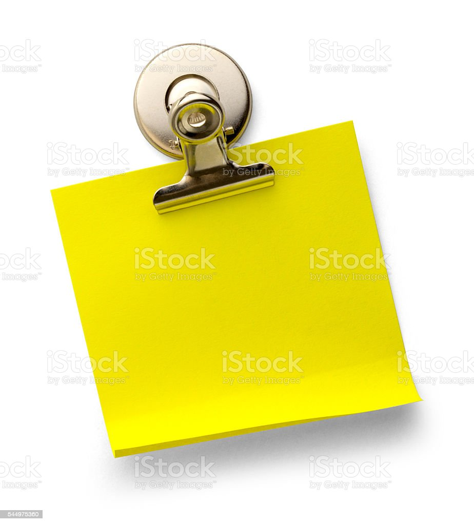 Note and Clip stock photo