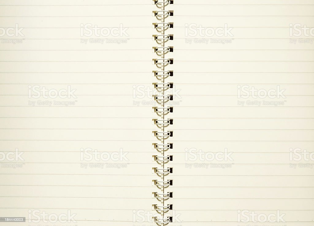 Note book blank page 2 royalty-free stock photo