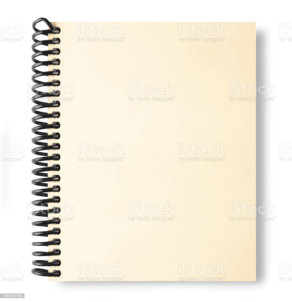 Note book isolate and shadow on white with clipping path stock photo