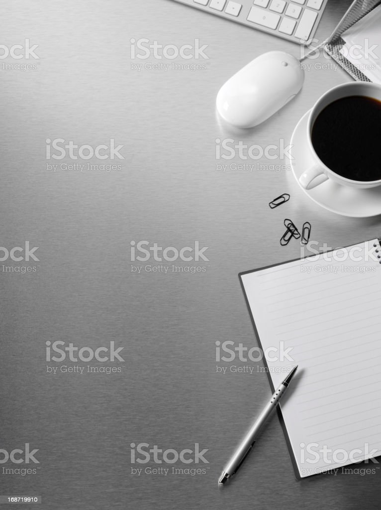 Note Book on a office Desk royalty-free stock photo